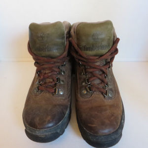 Vintage Timberland Brown Leather Hiking Boot 8 1/2